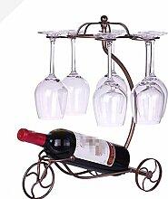 ZWZT Continental Eisen Weinregal Wein Cupholder kreative Art und Weise Wohnzimmer Weinregal Weinregal Wine Bar Zubehör