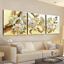 ZWZT Kunst Dekoration Gemälde lebende Landschaften / moderne dekorative Gemälde / Sofa Wandfarbe / Bild / Kristall Dreifach Wandmalereien / Landschaft 3 Stück , 50*50cm