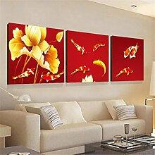 ZWZT Kunst- Dekoration Gemälde lebende Landschaften / moderne dekorative Gemälde / Sofa Wandfarbe / Bild / Kristall Dreifach Wandmalereien / Landschaft , 40*40cm