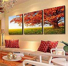 ZWZT Kunst- Dekoration Gemälde lebende Landschaften / moderne dekorative Gemälde / Sofa Wandfarbe / Bild / Kristall Dreifach Wandmalereien / Landschaft Ein Satz von 3 Panels , 40*40cm