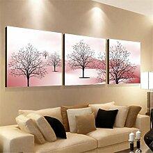 ZWZT Kunst Dekoration Gemälde lebende Landschaften / moderne dekorative Gemälde / Sofa Wandfarbe / Bild / Kristall Dreifach Wandmalereien / Landschaft Ein Satz von 3 , 40*40cm