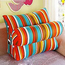 ZX-cushions Bett Kopfstütze Bürosofakissen Kissen Bett Rückenpolster Taille Dreieck Kissen Kissen Bequeme und weiche Kissen ( größe : 60*50*20CM )