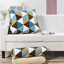 ZX-cushions Triangle Hals Bett Kissen Büro Taille Kissen Kissen Sofa Rückenlehne Bequeme und weiche Kissen ( größe : 60*22*50 )