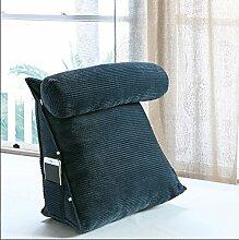 ZX-cushions Triangle Kissen Bett Rückenkissen Büro Schlafsofa Pflege Hals Kopfstütze Taillenkissen waschbar Bequeme und weiche Kissen ( größe : 45*40*22CM )