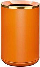 zxb-shop Abfalleimer Orange Metall Mülleimer mit