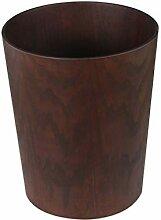 zxb-shop Abfalleimer Unübergierter aus Holz