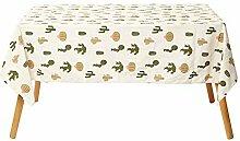 ZXCSD Kleine rechteckige Tischdecke im frischen