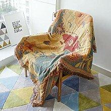 ZXCVB Baumwolle Jacquard Sofa Handtuch Abdeckung