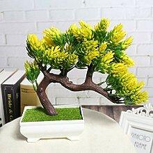 ZXD123 Kiefer Bonsai Simuliert Dekorative Blumen