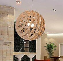 ZXDLCL Holz Hängelampe Deckenleuchte Lampe Globe