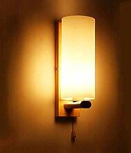 ZXF Massivholz Schmiedeeisen Nachttischlampe