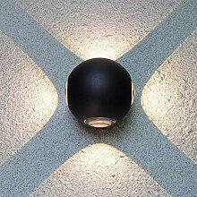 ZXF Moderne LED-Wand-Licht Kreative Black Wall