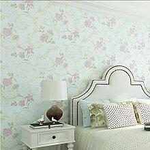 (zxfcccky) Europäischen Stil Relief Floral Tapete