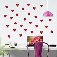 Zxfcczxf Einfache Form Herz Wandaufkleber Design