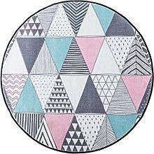 ZXH Runder Kuhfell-Teppich marmoriertes Schlafzimmer-Computer-Stuhl-Haus-kreativer Persönlichkeits-Wolldecke (Farbe : B, größe : 150cm)