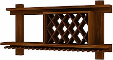 ZXH77f Wand-Weinregal Aus Massivem Holz Weinregal