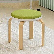 ZXIA Massivholz Runde Hocker Stuhl Einfache