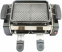 ZXIAQI Smokeless Elektrogrill Raclette Doppelte