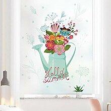 ZXINHome Fensterfolie Blauwal Glasfolie Mattglas