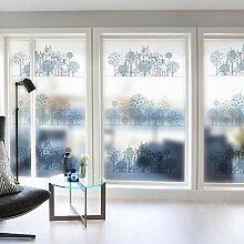 ZXINHome Fensterfolie PVC Glas Flims Mattglas