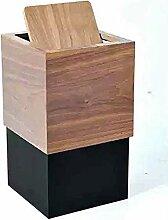 ZXJshyp Mülleimer Mit Massivholz überzogener
