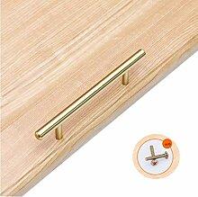 ZXL 10mm Gold Küchenschrank Tür T Bar Griff