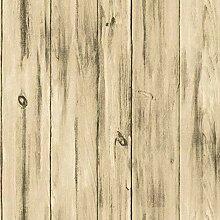 ZXL Amerikanische Retrotapete, Holzmaserung, alte