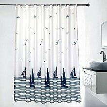 ZXL Duschvorhänge Romantischer Yang-Ventilator-Duschvorhang / Verdickung Wasserdichter Schimmel-Duschvorhang / Badezimmer-Duschvorhang / Bad-Vorhang (Größe wahlweise freigestellt) Badezimmerzubehör ( größe : 200*180cm )