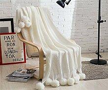 ZXL Gestrickte Wolle Decke Sofa Decke Fotografie