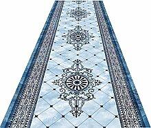 ZXL Läufer Teppich Light Blue Flur Läufer