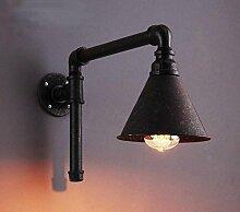 ZXL Retro Wandlampe Eisen Schlauch für die