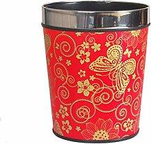 ZXL Rote Hochzeit Haushalt Mülleimer Chinesische