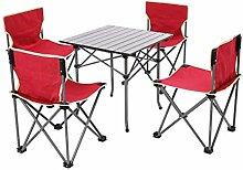 ZXL Set Klapp Camping Hocker Tisch, tragbare