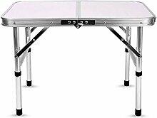 ZXL Tragbare Faltbare Aluminium Camping Tisch