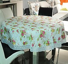zxlife PVC-Tischdecke mit Spitze, wasserdicht,