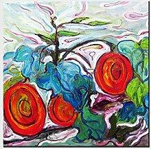 ZXP Moderne Kunst ÖLgemäLde Hand Gemaltes ÖLgemäLde Blumen Pflanzen Auf Leinwand Zimmer Wohnzimmer WäNde Hintergrund Dekoration Wand Drucke Keine Box Bereit Zum AufhäNgen , 80cm×80cm