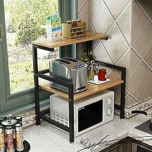 ZXPzZ Küchenregal Für Mikrowellenherd 2-lagiges,