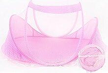 ZXQZ Anti Moskito Moskitonetze Baby Moskitonetzabdeckung Faltbare Tragbare Moskitoabdeckung 2 Farbe Optional Insektenschutz ( Farbe : Pink )