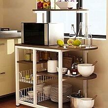 ZXQZ Küche Lagerregal / Mikrowelle / Küchengerät Lagerregal / Geschirr Lagerregal / Ofen Rack Küche ablagen ( Farbe : 2# )