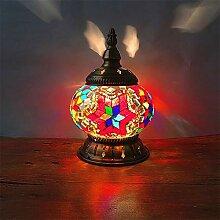 ZXT Türkische Mosaik Tischlampe, Handgefertigt,