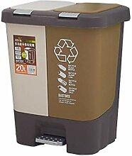 ZXW Mülleimer- Mülleimer Großer Kunststoff Mit