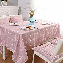 ZXY Art und Weise einfache europäische Art Tischdecken Tischdecken, im Freienpicknickmatten, Innenverkleidung, Baumwolle und Leinen Multifunktionsstaubabdeckung Tuch Tuch,A,130*200cm