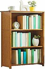 ZXY Bücherschrank Mit tür mit Griff, Massivholz