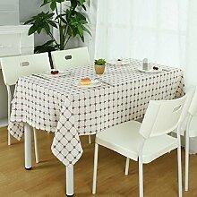 ZXY Europäische einfache Gitter Muster Tisch