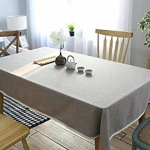 ZXY Grau Leinen Tischdecke, europäischen Stil einfache moderne Stil multifunktionale Tischdecke, Innen-Couchtisch, Schreibtisch, Tisch Tischdecke,A,120*170cm