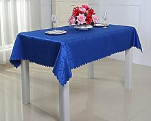 ZXY Heimtextilien ZXY Panno di copertura polveri multiuso, tovaglie di stile moderno minimalista di lusso europeo, alberghi, caffè, antifouling, tovaglia facile da pulire,blue,200*260cm