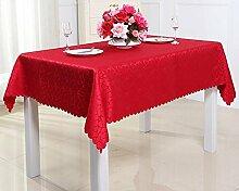 ZXY Heimtextilien ZXY Panno di copertura polveri multiuso, tovaglie di stile moderno minimalista di lusso europeo, alberghi, caffè, antifouling, tovaglia facile da pulire,red,150*210cm