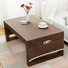 ZXY Tovaglia quotidiana da tavolo da caffè per uso domestico, con tasca di immagazzinaggio, tovaglia creativa moderna e cotone di lino e cotone moderno, indossare, anti-inquinamento, copriletto multiuso,B,70*150cm