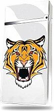 ZXYAN Tiger-Kopf-Feuerzeug mit Batterie-Anzeige