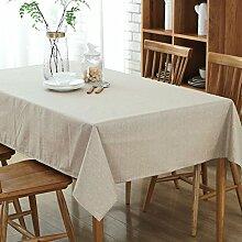 ZXYEuropäischen Baumwolle und Leinen Tischdecke wasserdichte Home Dekoration Tisch Tuch Tuch Leben Desktop-Staub und Verschmutzung Prävention Abdeckung Stoff Tischdecke,B,130*178CM